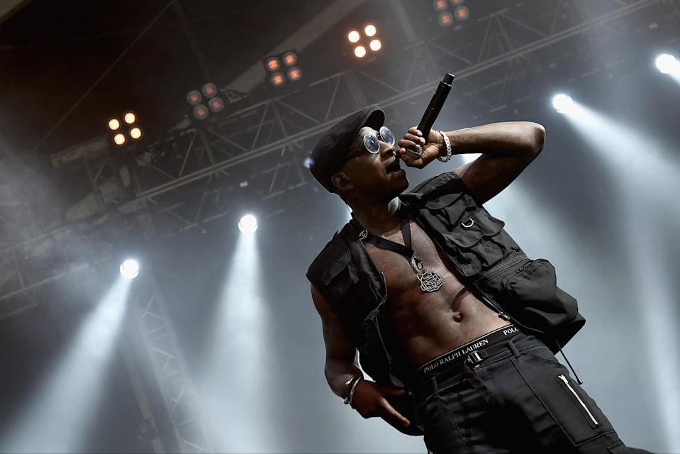 <p>Back on top: Skepta was set to headline the festival in 2020</p> (Getty Images)