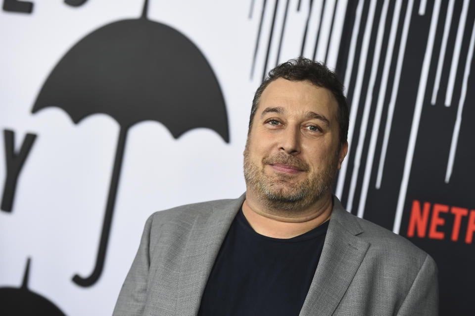 """Steve Blackman arrives at the Los Angeles premiere of """"The Umbrella Academy"""" at The Arclight Hollywood on Tuesday, Feb. 12, 2019. (Photo by Jordan Strauss/Invision/AP)"""