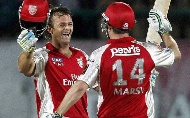 Adam Gilchrist and Shaun Marsh