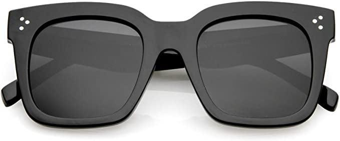 <p>You can never go wrong with a standard pair of black sunnies and the <span>zeroUV Retro Oversized Square Sunglasses with Flat Lens</span> ($15) are a best-seller!</p>