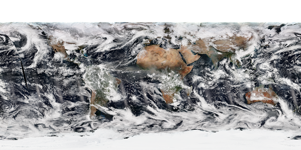 Earth image on Dec. 30, created by combining the color channels of the Suomi NPP satellite's Visible Infrared Imaging Radiometer Suite instrument. (Photo: NOAA)