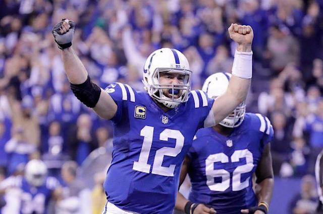 Andrew Luck is a no-doubt top-five fantasy QB when he's right. (Photo by Andy Lyons/Getty Images)