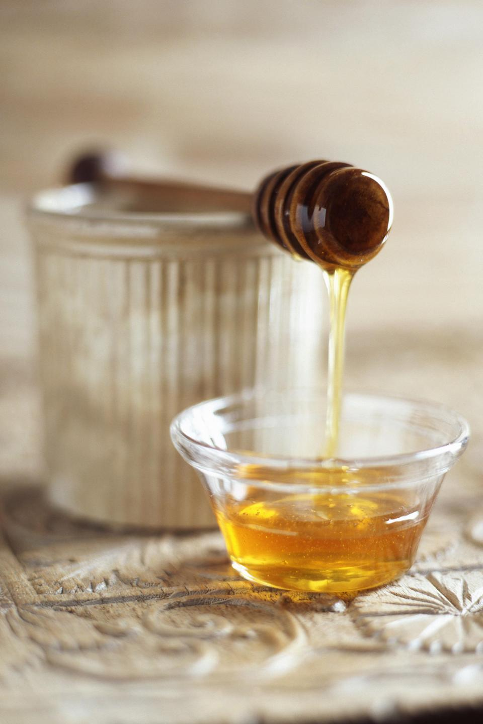 """<p>This sweet substance should be a <a href=""""http://www.goodhousekeeping.com/health-products/g3163/medicine-cabinet-seal-holders/"""" rel=""""nofollow noopener"""" target=""""_blank"""" data-ylk=""""slk:first-aid kit"""" class=""""link rapid-noclick-resp"""">first-aid kit</a><a href=""""http://www.goodhousekeeping.com/health-products/g3163/medicine-cabinet-seal-holders/"""" rel=""""nofollow noopener"""" target=""""_blank"""" data-ylk=""""slk:staple"""" class=""""link rapid-noclick-resp""""> staple</a>, especially when it comes to ailments like abrasion, bed sores and cracked nipples. Because of its antibacterial properties, honey helps clean wounds, reduce inflammation and promote new tissue growth, according to a <a href=""""https://www.ncbi.nlm.nih.gov/pubmed/28291965"""" rel=""""nofollow noopener"""" target=""""_blank"""" data-ylk=""""slk:2017 study"""" class=""""link rapid-noclick-resp"""">2017 study</a>. Simply put enough honey on a bandage to cover the affected area (researchers found this to be more effective than putting it on the wound itself) and apply.</p>"""