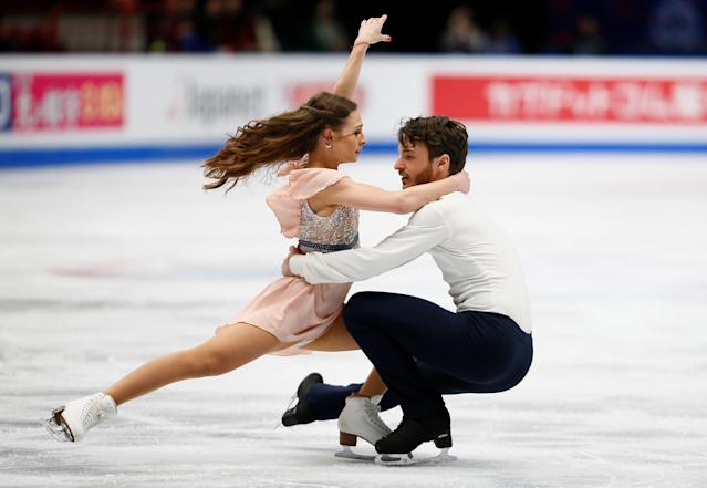 Figure Skating - World Figure Skating Championships - The Mediolanum Forum, Milan, Italy - March 24, 2018 Germany's Kavita Lorenz and Joti Polizoakis during the Ice Dance Free Dance REUTERS/Alessandro Garofalo