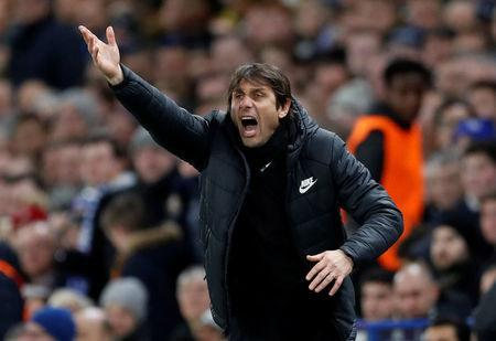 Soccer Football - Champions League Round of 16 First Leg - Chelsea vs FC Barcelona - Stamford Bridge, London, Britain - February 20, 2018 Chelsea manager Antonio Conte Action Images via Reuters/Andrew Boyers