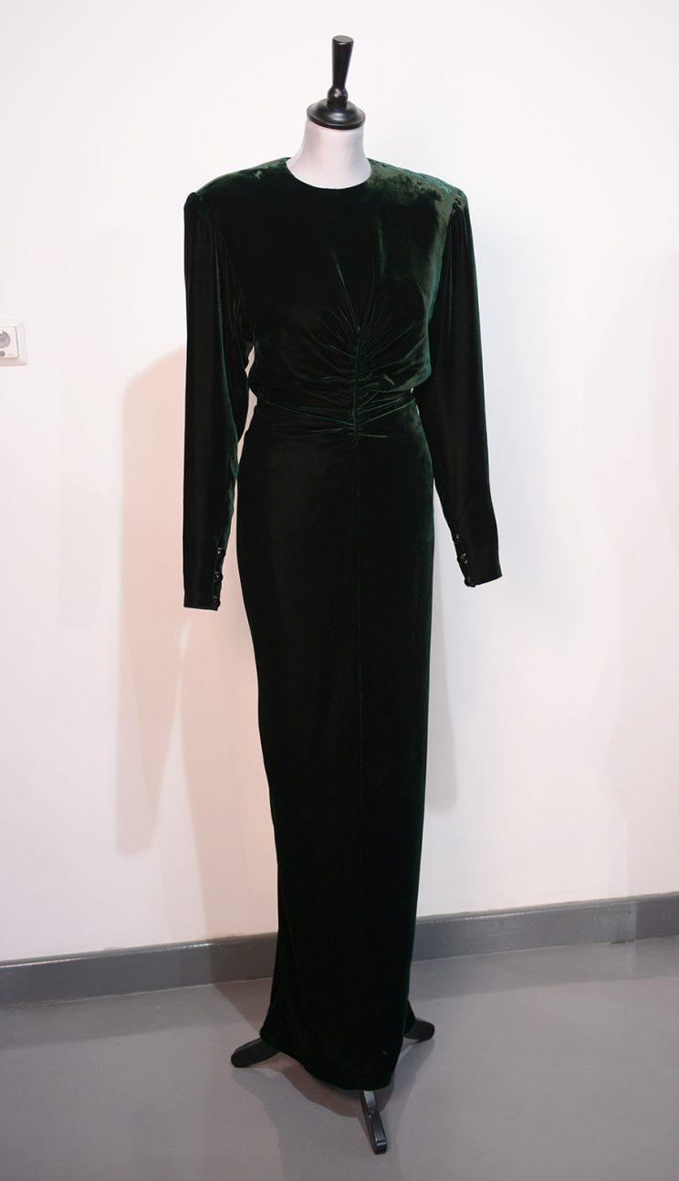 A silk velvet dress Princess Diana wore 30 years ago.