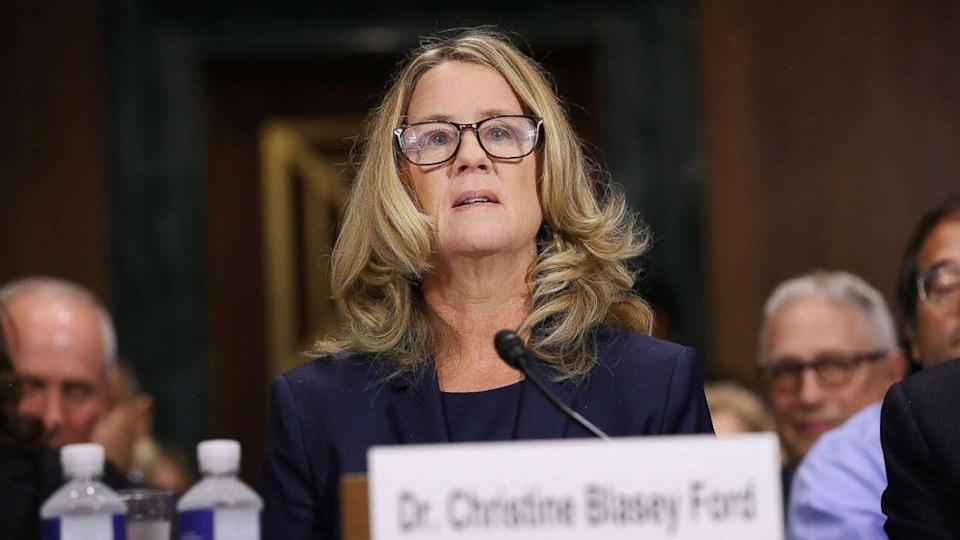 Christine Blasey Ford prepares to testify before the Senate Judiciary Committee in the Dirksen Senate Office Building on Capitol Hill, Sept. 27, 2018. (Photo: Win McNamee/Getty Images)