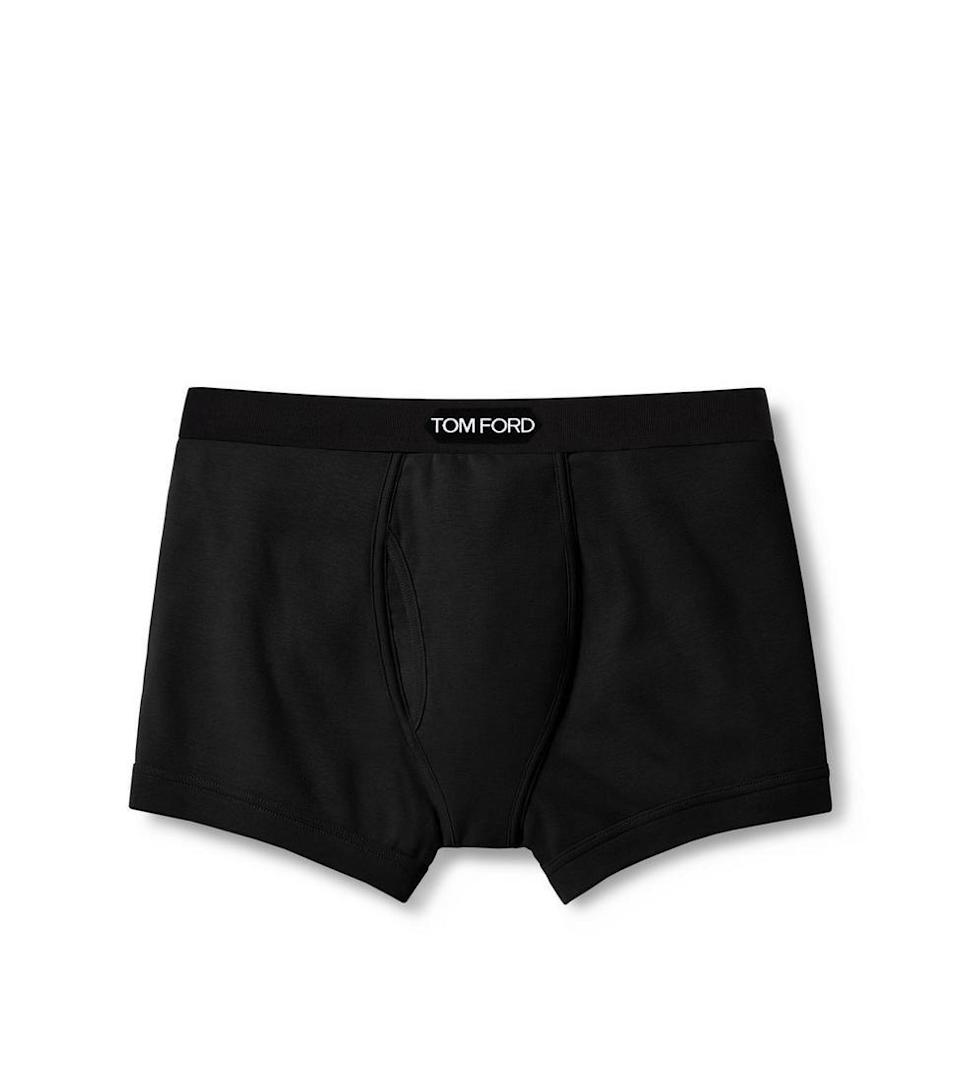 "<p><strong>Tom Ford </strong></p><p>neimanmarcus.com</p><p><strong>$75.00</strong></p><p><a href=""https://www.neimanmarcus.com/p/tom-ford-logo-trim-boxer-briefs-prod220930070"" rel=""nofollow noopener"" target=""_blank"" data-ylk=""slk:Shop Now"" class=""link rapid-noclick-resp"">Shop Now</a></p><p>These ultra-luxe boxers are the perfect gift for the guy who has it all. </p>"