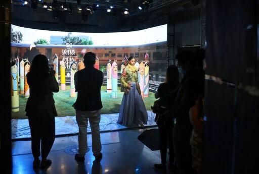 AP PHOTOS: India Holds Digital Fashion Week Amid Pandemic