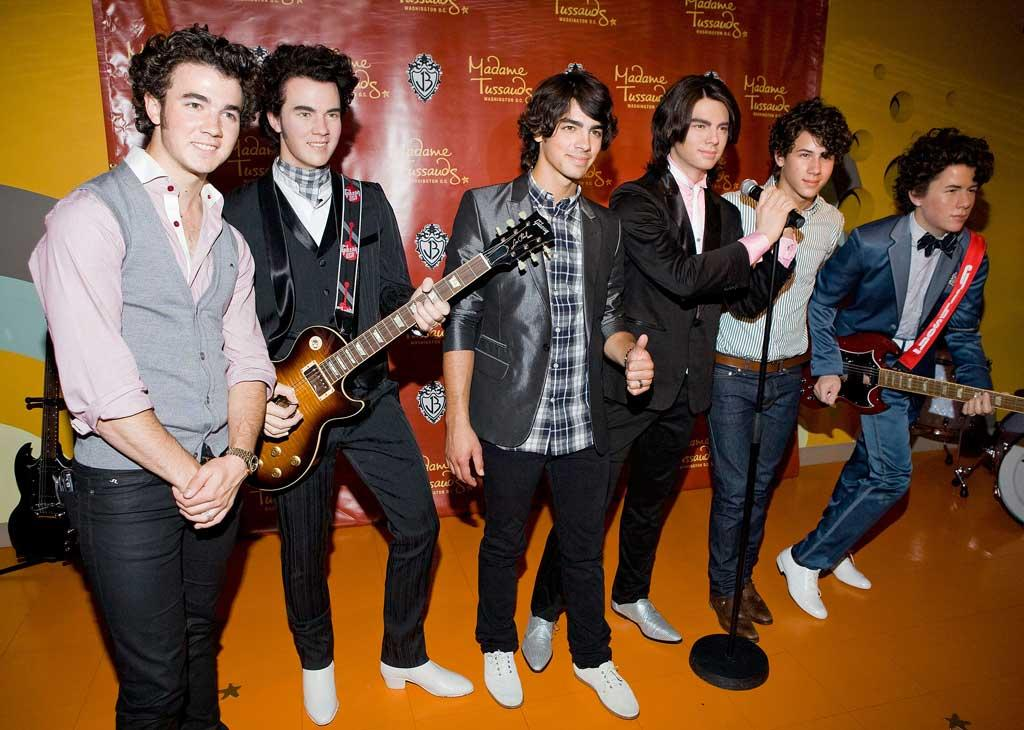 """Kevin, Joe, and Nick Jonas have been immortalized in wax. The Jonas Brothers attended the unveiling of their likenesses at Madame Tussaud's in Washington D.C. last Monday. Paul Morigi/<a href=""""http://www.wireimage.com"""" target=""""new"""">WireImage.com</a> - August 18, 2008"""