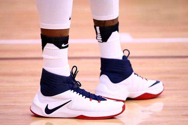 DeMarcus Cousins' Nike Zoom Clear Out. (Getty)