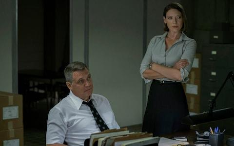 Holt McCallany and Anna Torv