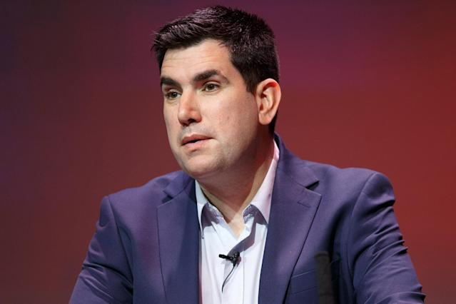Richard Burgon at a Labour deputy leadership hustings in Glasgow last month. (Robert Perry/Getty Images)