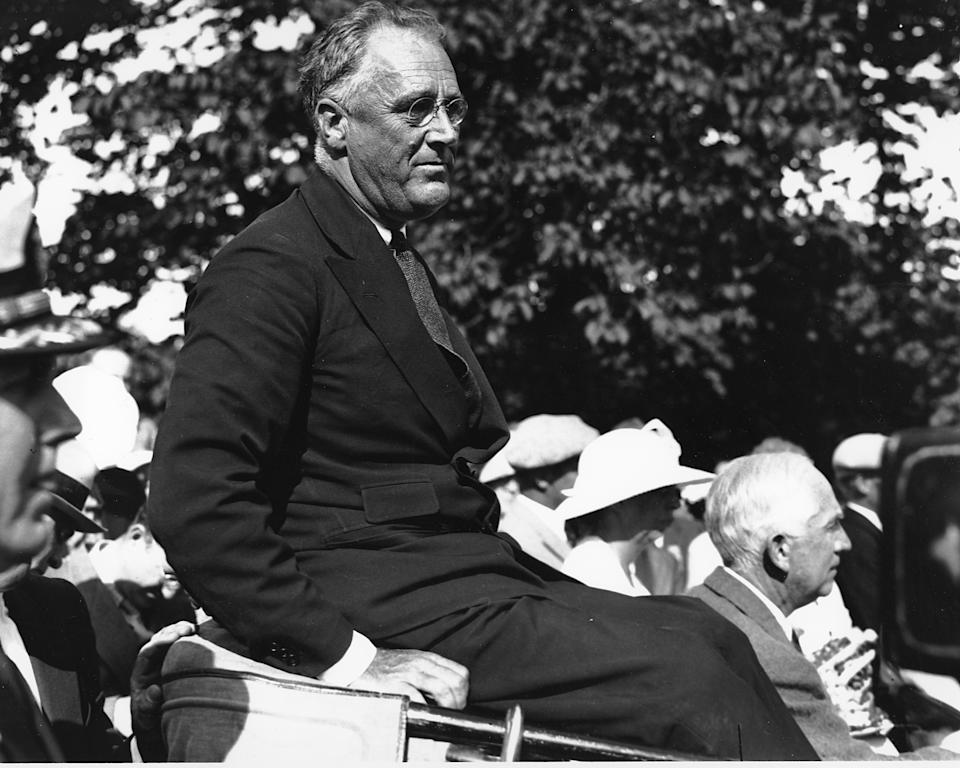 This is an undated photo of U.S. President Franklin D. Roosevelt at Campobello Island, off the coast of New Brunswick, Canada. (AP Photo)