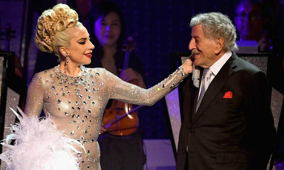 Lady Gaga performs with Tony Bennett