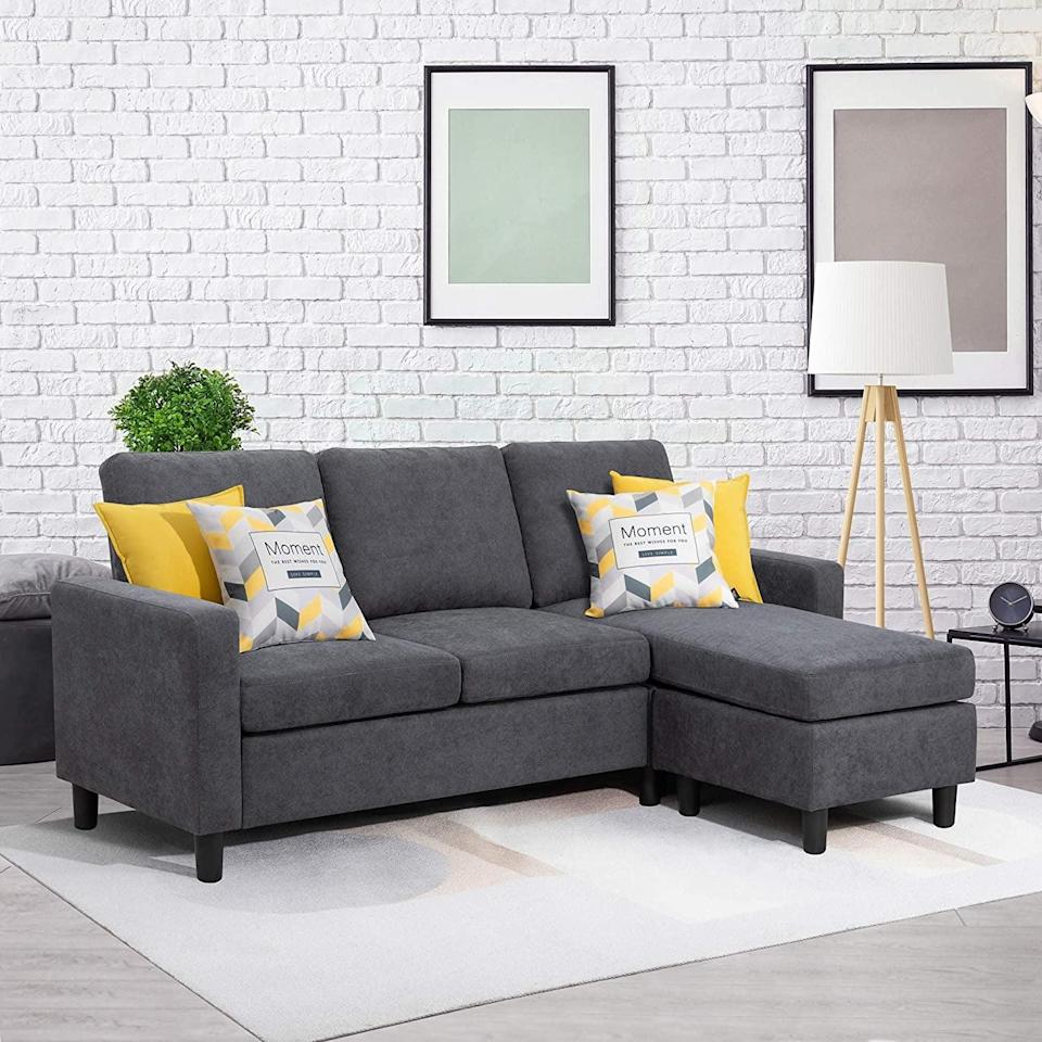 <p>This <span>Walsunny Convertible Sectional Sofa</span> ($270) is great for a small apartment.</p>