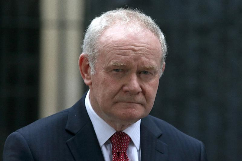 Martin McGuinness resigned as Northern Ireland's deputy first minister in January amid ill-health and a breakdown in relations with the rival Democratic Unionist Party (AFP Photo/Daniel LEAL-OLIVAS)