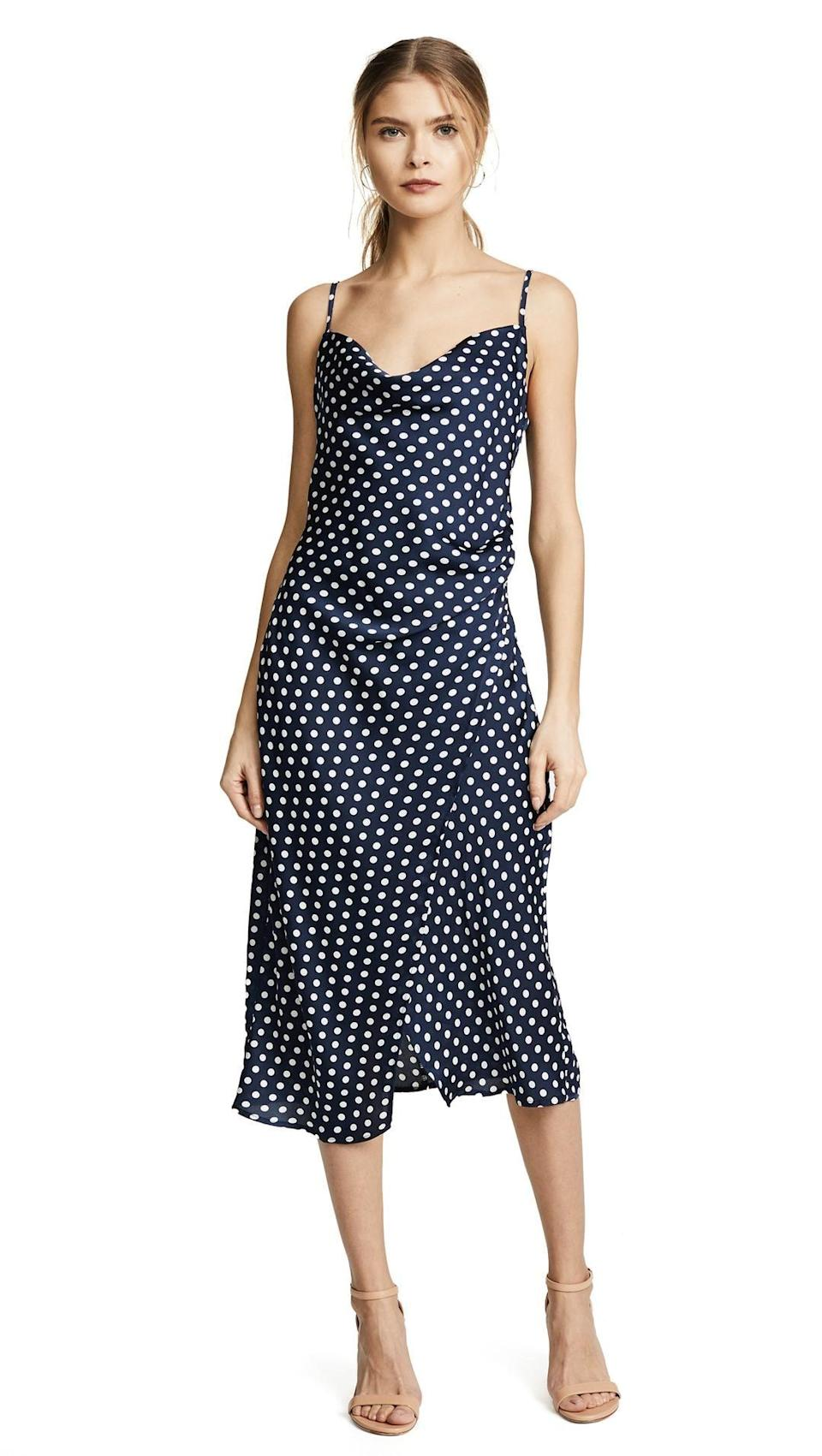 It's a polka-dot party. Available in size S to L.