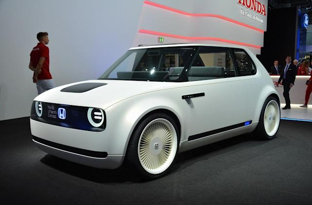 "<p><strong>Honda Urban EV</strong><br>With the Clarity EV already on sale in the U.S. and Japan, the Urban EV is Honda's city-chic offering. It's a throwback to the Honda Civic of the 1970s, with some serious updates, like rear-hinge doors, and a dashboard almost entirely absent of controls; there's a steering wheel and pedals, but you need to talk to the car for everything else. Honda says the car's system ""learns from the driver by detecting emotions behind their judgments."" Anticipated launch year: 2019 (Digital Trends) </p>"