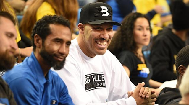 LaVar Ball, father of UCLA freshman and NBA prospect Lonzo Ball, is happy to see Steve Alford staying at UCLA to coach his younger sons, according to ESPN's Jeff Goodman.