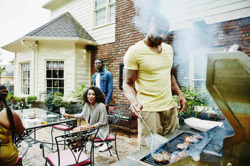 Consider providing single-use items for your cookout, or appoint one person to handle serving to avoid repeat contact on things like serving utensils or ketchup bottles. (Photo: Getty Images stock photo)