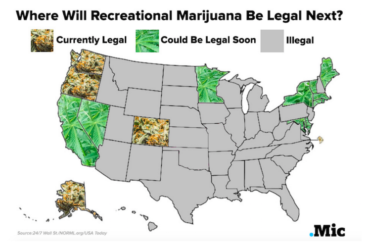 Legalization In Kentucky New Bill Aims To Legalize Weed In - Us map of legal weed 2017