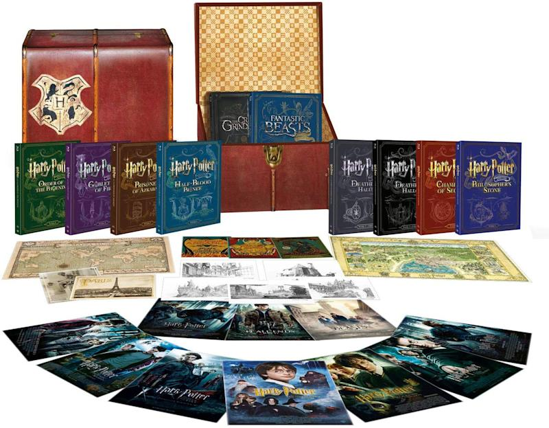 """<a href=""""https://amzn.to/38a7EjI"""" target=""""_blank"""" rel=""""noopener noreferrer"""">Wizarding World 10 Film Collection, Amazon, </a>&pound;200 (Photo: Huffington Post UK )"""