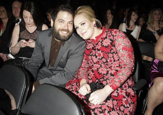 Adele and Simon Konecki at the 55th Annual Grammy Awards on February 10, 2013 in Los Angeles.