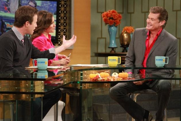 David Hasselhoff talks about his love life on the set of Access Hollywood Live on November 2, 2012 -- NBC