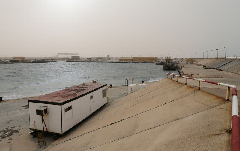 FILE PHOTO: View shows the oil port of Es Sider
