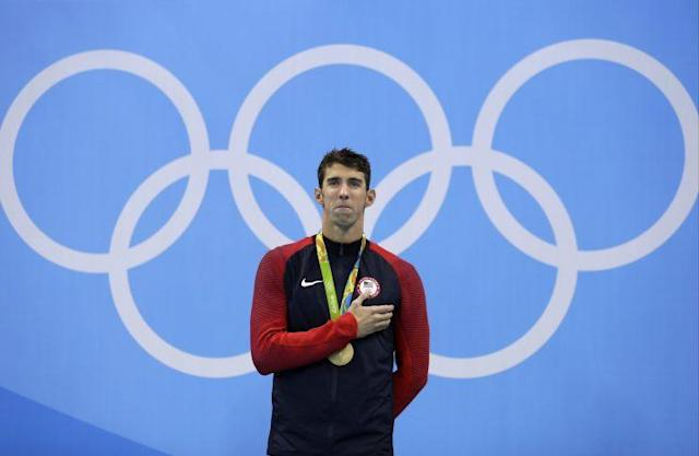 Michael Phelps had won 22 Olympic gold medals as of Thursday. (AP)