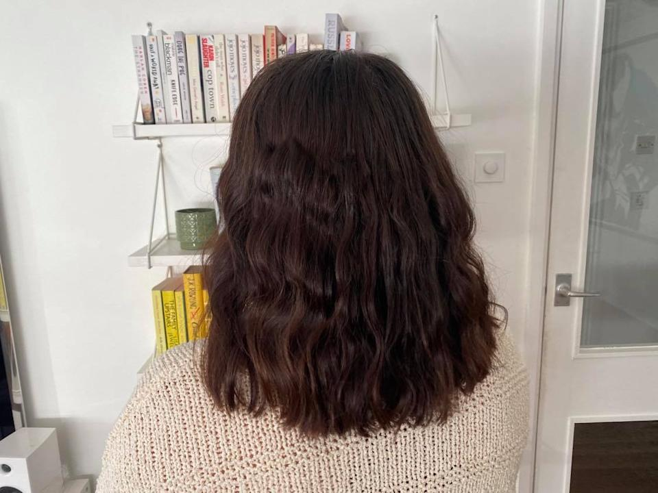 Beauty Works Waver review: waver performance on Annie's hair
