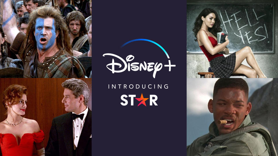 'Braveheart', 'Jennifer's Body', 'Independence Day' and 'Pretty Woman' will all be available via Star. (Credit: Disney+)