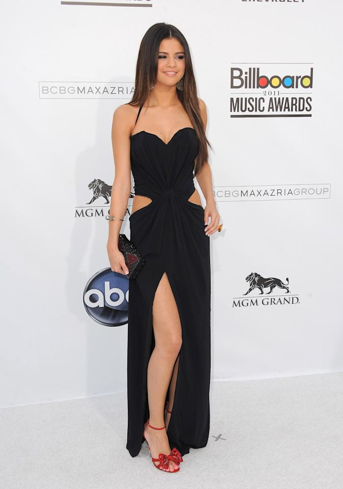 Actress Selena Gomez arrives at the 2011 Billboard Music Awards held at the MGM Grand Hotel & Casino on May 22, 2011 in Las Vegas, Nevada.