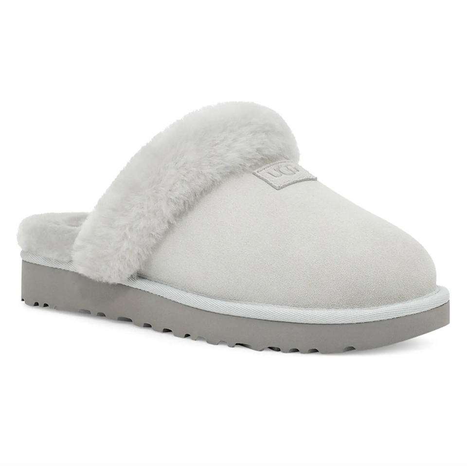"""<h2>Ugg Genuine Shearling Slipper 30% Off</h2><br>""""Who doesn't need some comfy slides? These UGG ones look like you'll be walking on clouds with every step. I love that the bottom looks like it has good grip and enough height, so you won't be slipping around everywhere on smooth floors. """"<em> – Mercedes Viera, Associate Deals Writer</em><br><br><strong><em>Next Best Deal:</em></strong><em> Since Ugg Genuine Shearling Slipper is almost sold out, try this still-in-stock <a href=""""https://www.nordstrom.com/s/ugg-cozette-genuine-shearling-slipper-women/5020345"""" rel=""""nofollow noopener"""" target=""""_blank"""" data-ylk=""""slk:Ugg Cozette Genuine Shearling Slipper"""" class=""""link rapid-noclick-resp"""">Ugg Cozette Genuine Shearling Slipper</a> instead!</em><br><br><em>Shop</em> <strong><em><a href=""""https://www.nordstrom.com/brands/uggsupsup--1320"""" rel=""""nofollow noopener"""" target=""""_blank"""" data-ylk=""""slk:Ugg"""" class=""""link rapid-noclick-resp"""">Ugg</a></em></strong><br><br><strong>Ugg</strong> Genuine Shearling Slipper, $, available at <a href=""""https://go.skimresources.com/?id=30283X879131&url=https%3A%2F%2Fwww.nordstrom.com%2Fs%2Fugg-genuine-shearling-slipper-women%2F5868136"""" rel=""""nofollow noopener"""" target=""""_blank"""" data-ylk=""""slk:Nordstrom"""" class=""""link rapid-noclick-resp"""">Nordstrom</a>"""