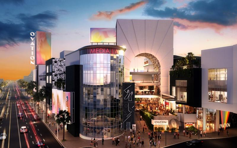 Rendering of the Hollywood & Highland after a $100 million makeover