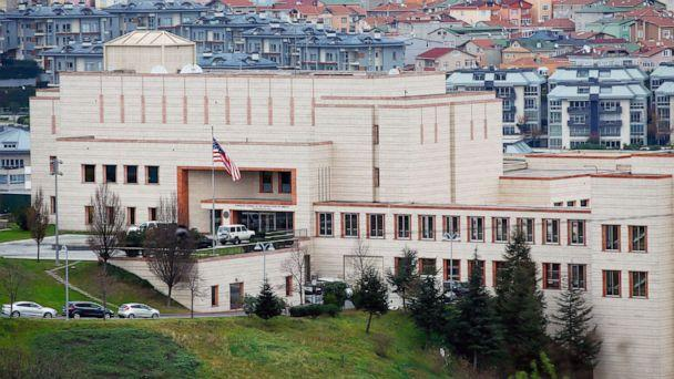 PHOTO: The U.S. Consulate in Istanbul, Turkey, is pictured on Dec. 9, 2015.   (Emrah Gurel/AP, FILE)