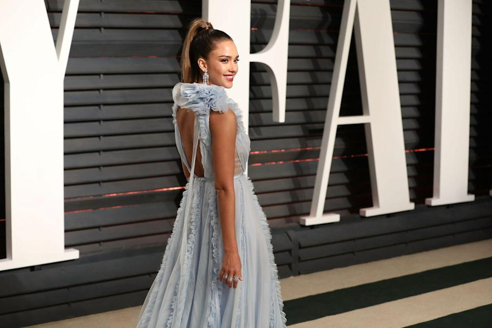 """<p>Braganza says she has her clients focus on this area. 'The glutes are a large muscle; they often become inactive due to our sedentary lifestyle,' she told <a href=""""https://www.instyle.com/celebrity/how-get-body-jessica-alba?slide=276772#276772"""" rel=""""nofollow noopener"""" target=""""_blank"""" data-ylk=""""slk:InStyle"""" class=""""link rapid-noclick-resp"""">InStyle</a>. She has her clients make an effort during workouts to contract this area. 'You should feel it tightening up when doing squats, step-ups, kicks and lunges. Squeeze the glutes throughout the move,' she said.<br></p>"""