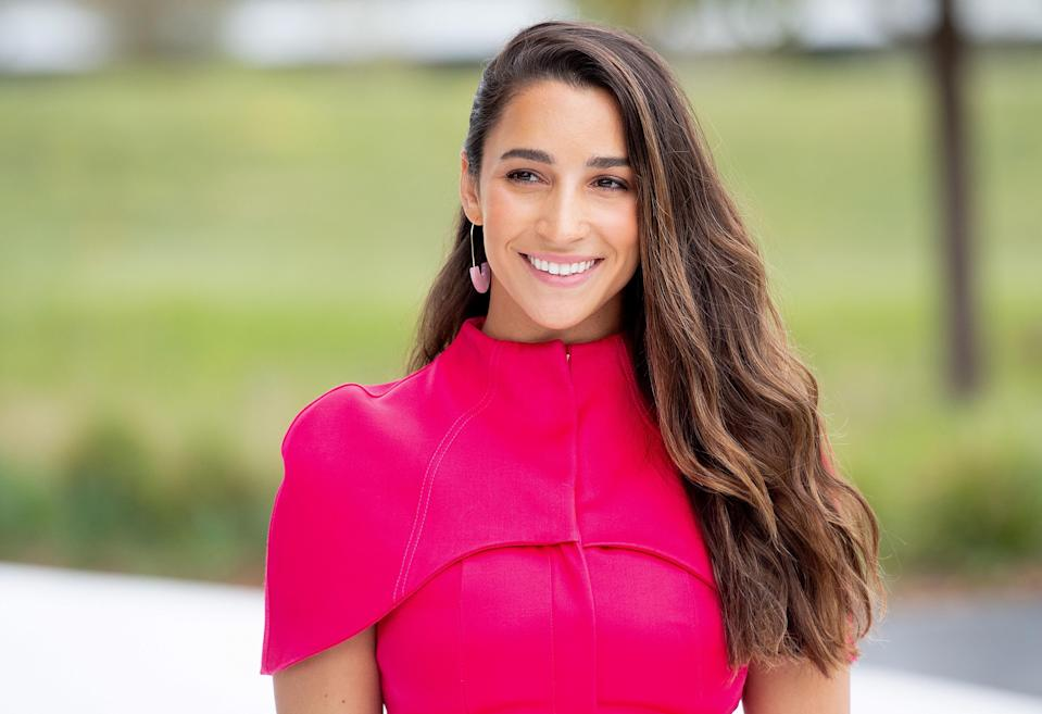 Olympic gymnast Aly Raisman tells Yahoo Lifestyle that applying sunscreen is a part of her daily routine. (Photo: Getty Images)