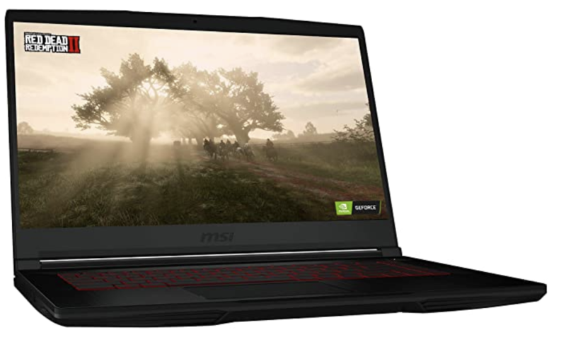 MSI Laptop Gaming GF63. Foto: amazon.com.mx