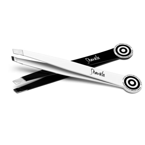"""<b>Fashion Targets Breast Cancer Tweezers - £9.99 – Shavata</b><br><br>Shavata has teamed up with Fashion Targets Breast Cancer to create these professional slanted tweezers, which come in black or white, with 30 per cent of each sale price going to <a href=""""http://fashiontargetsbreastcancer.org.uk/"""" rel=""""nofollow noopener"""" target=""""_blank"""" data-ylk=""""slk:Fashion Targets Breast Cancer"""" class=""""link rapid-noclick-resp"""">Fashion Targets Breast Cancer</a>. It's also developed a <a href=""""http://www.beautybay.com/accessories/shavata/fashiontargetsbreastcancerukcompactmirror/"""" rel=""""nofollow noopener"""" target=""""_blank"""" data-ylk=""""slk:compact mirror"""" class=""""link rapid-noclick-resp"""">compact mirror</a> for the same cause.<br><br>Available to buy from <a href=""""http://www.beautybay.com/accessories/shavata/g/fashiontargetsbreastcanceruktweezers/"""" rel=""""nofollow noopener"""" target=""""_blank"""" data-ylk=""""slk:BeautyBay.com"""" class=""""link rapid-noclick-resp"""">BeautyBay.com</a>."""