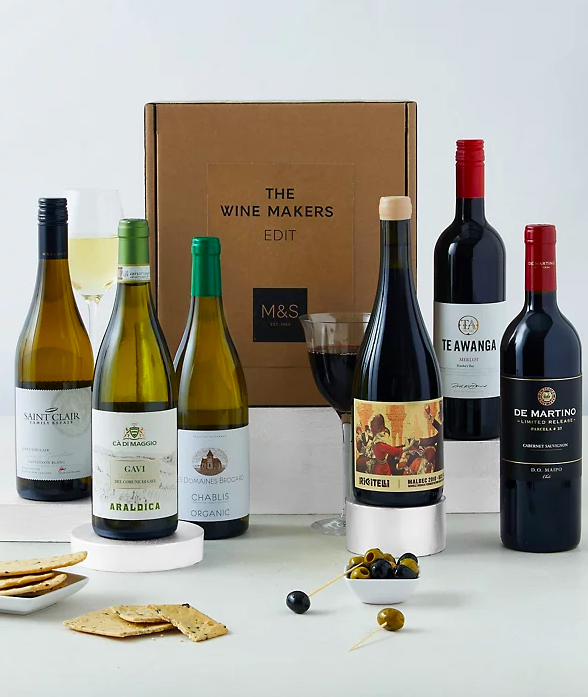 Wine Makers Premium Edit - Round the World Mixed Case Gift. (Marks & Spencer)