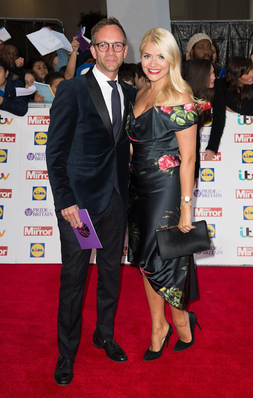 LONDON, ENGLAND - SEPTEMBER 28:  Holly Willoughby and Daniel Baldwin attend the Pride of Britain awards at The Grosvenor House Hotel on September 28, 2015 in London, England.  (Photo by Samir Hussein/WireImage)