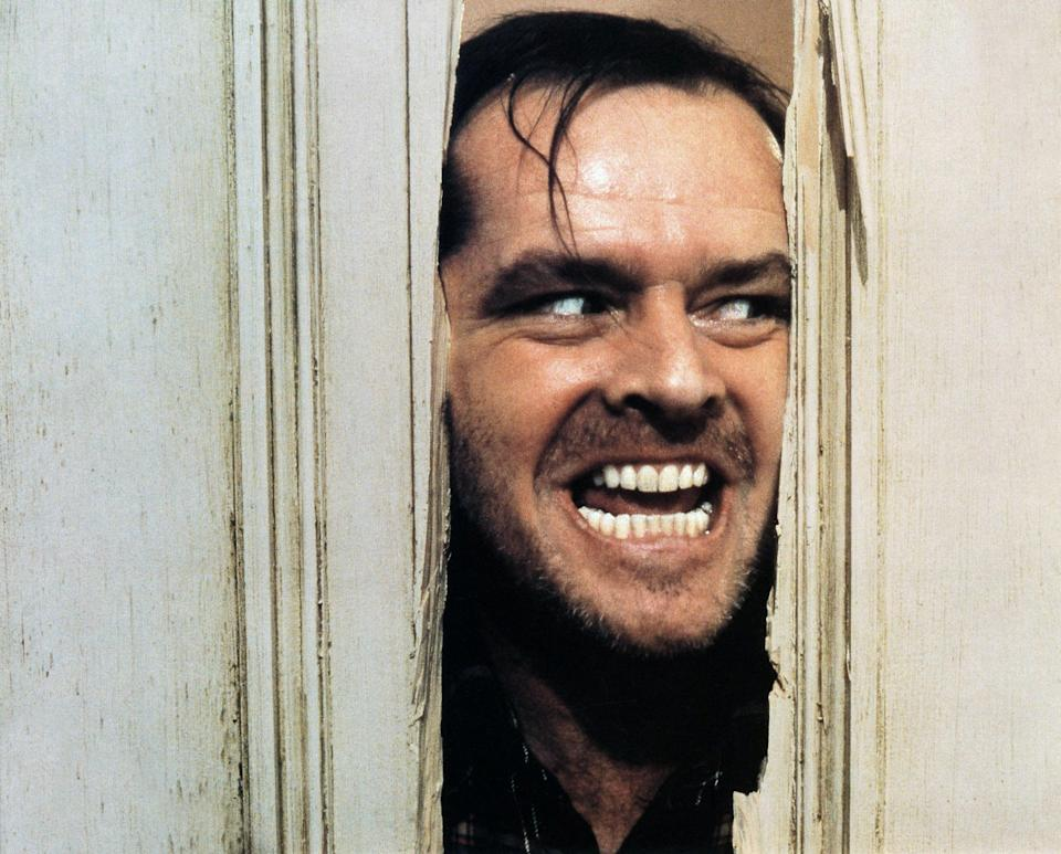 "<p>""All work and no play makes Jack a dull boy."" Honestly, that line alone still brings chills to my spine. Based on a Stephen King novel, this movie is truly a cinematic masterpiece in the hands of the late Stanley Kubrick. The opening tracking shot will never <em>not</em> be studied at film school, and Jack Nicholson's unhinged performance is a total master class in acting. — <em>AG</em></p> <p><a href=""https://www.amazon.com/gp/video/detail/amzn1.dv.gti.34a9f75c-f5e7-442a-743e-c9d9a11b70be?autoplay=1"" rel=""nofollow noopener"" target=""_blank"" data-ylk=""slk:Stream here"" class=""link rapid-noclick-resp""><em>Stream here</em></a></p>"