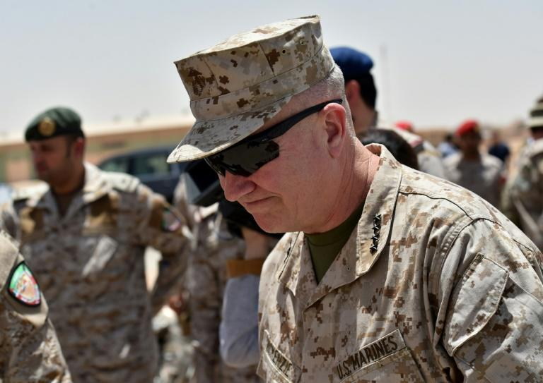 General Kenneth McKenzie, pictured here in Saudi Arabia, oversees US operations in the Middle East