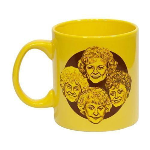 """<p><strong>Just Funky</strong></p><p>target.com</p><p><a href=""""https://www.target.com/p/just-funky-golden-girls-stay-golden-20oz-coffee-mug/-/A-75519548"""" rel=""""nofollow noopener"""" target=""""_blank"""" data-ylk=""""slk:Shop Now"""" class=""""link rapid-noclick-resp"""">Shop Now</a></p><p>This yellow mug features Dorothy, Rose, Blanche, and Sophia on one side, and """"Stay Golden"""" on the other.<br></p>"""