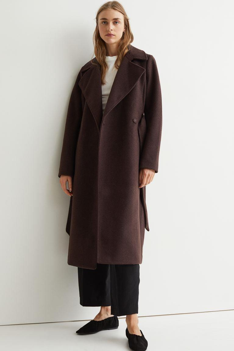 <p>If you want something timeless, try this <span>H&amp;M Tie Belt Coat</span> ($60). You can take the tie off if you'd rather not have the belt.</p>