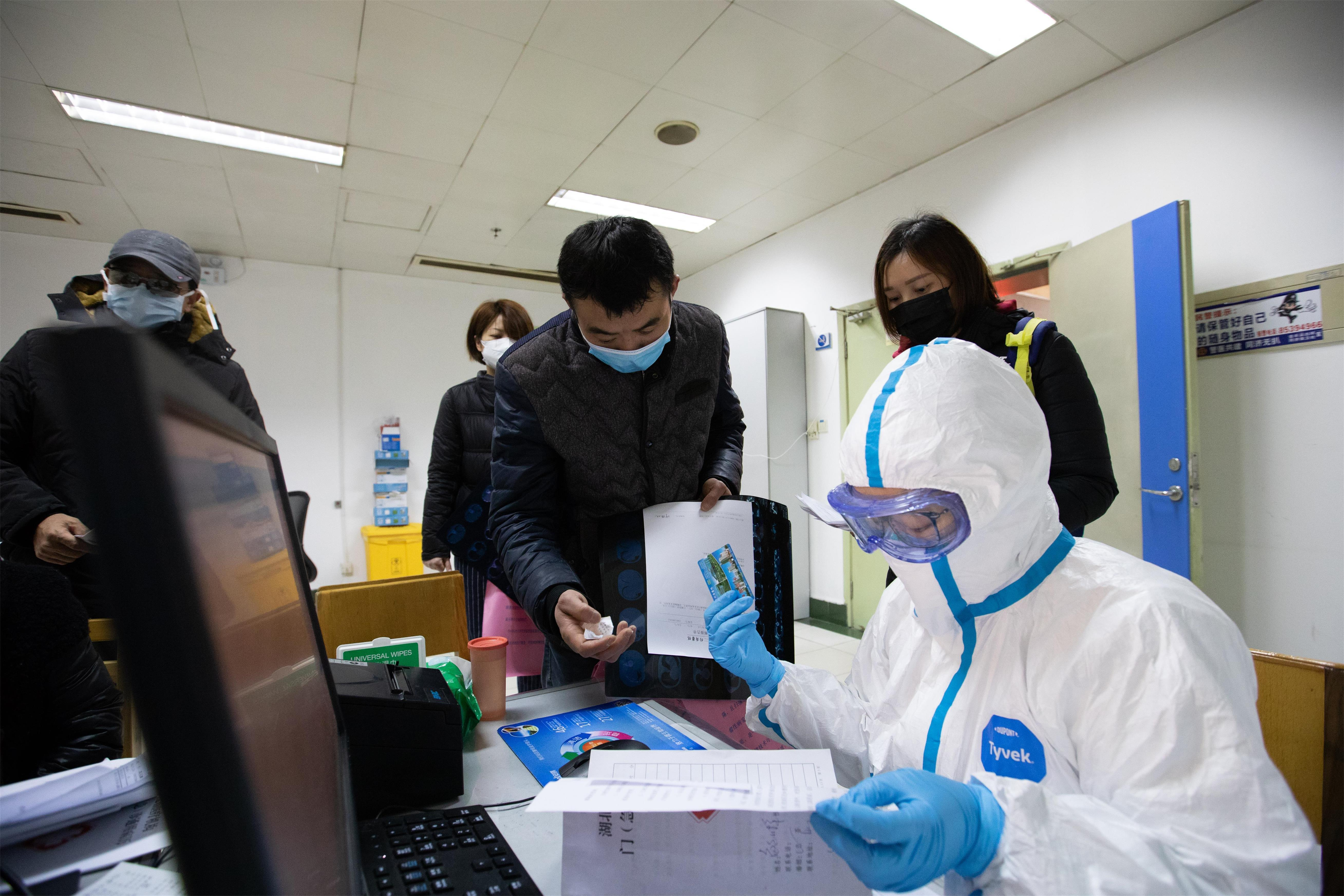 The medical staff wearing protection suit and fight with the novel coronavirus epidemic in Wuhan,Hubei,China on 21th January, 2020.(Photo by TPG/cnsphotos) (Photo by Top Photo/Sipa USA)