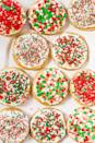 """<p>Children will love decorating this dessert. The more sprinkles, the better!</p><p><strong>Get the recipe at <a href=""""https://www.averiecooks.com/soft-frosted-holiday-sprinkles-cookies/"""" rel=""""nofollow noopener"""" target=""""_blank"""" data-ylk=""""slk:Averie Cooks"""" class=""""link rapid-noclick-resp"""">Averie Cooks</a>.</strong></p>"""