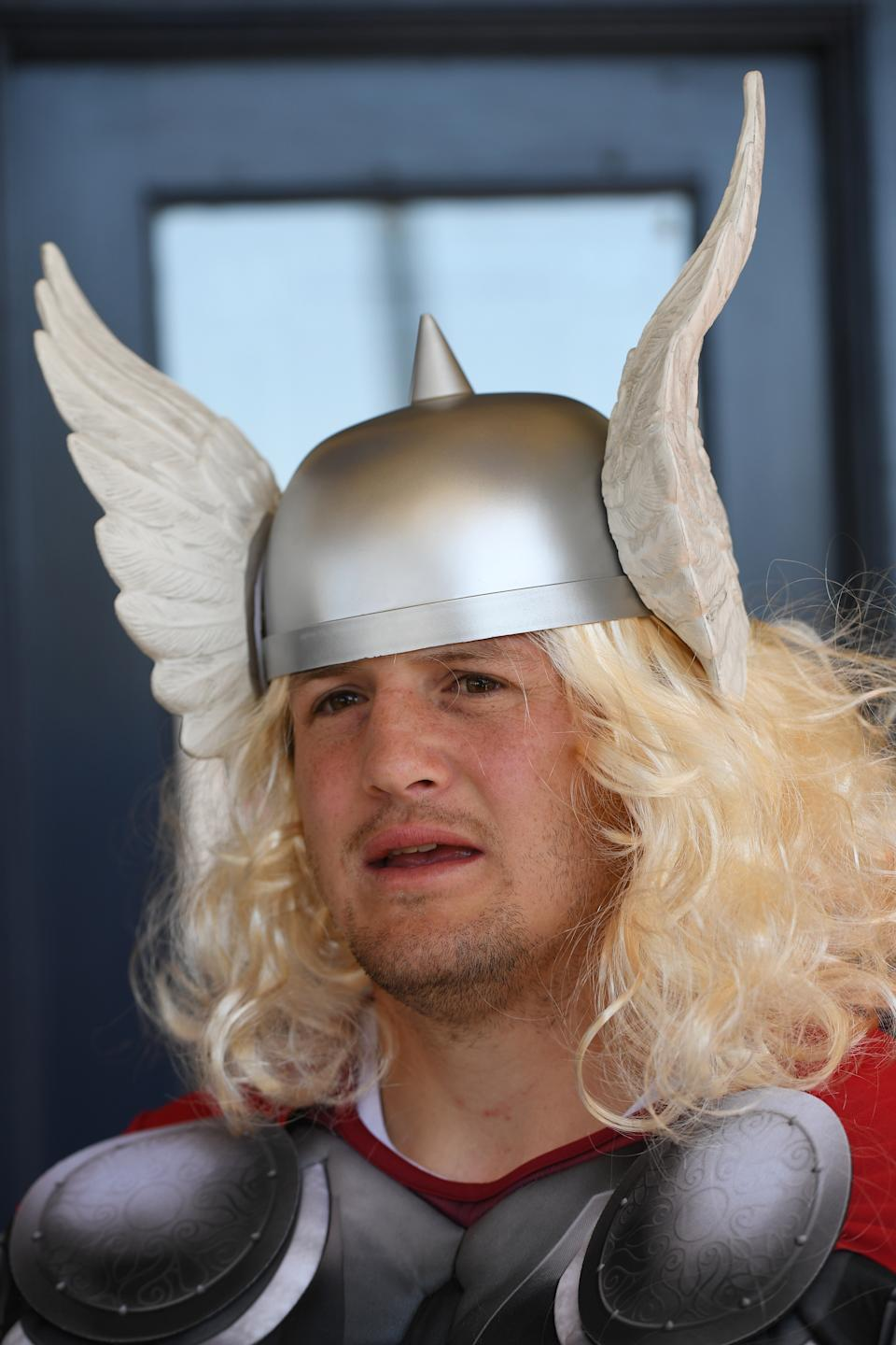 Former Canterbury Bankstown Bulldogs player Josh Morris (pictured) dressed up as Thor in 2017.